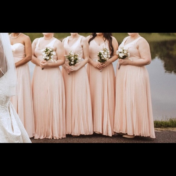 5d11fa667a549 Azazie Dresses & Skirts - Azazie Lindsey pearl pink bridesmaid dress